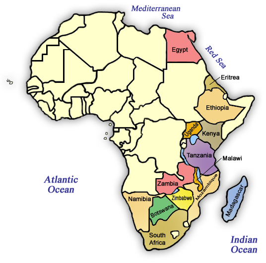 Africa route map