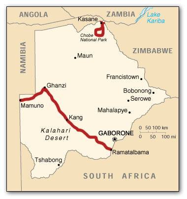 botswana_route_map